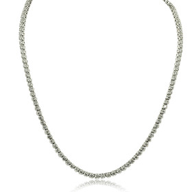 14K White Gold 4.92 Carat Diamond Tennis Necklace