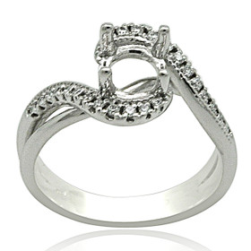 14kw 4 Prong Diamond Engagement Ring Setting 11005953