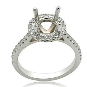 14K White Gold Diamond Engagement Ring Setting 11005946