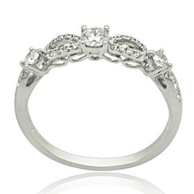 14K White Gold Diamond Fancy Band 11005966