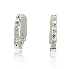 14K White Gold Diamond Huggie Earrings 41002202