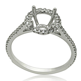 14K White Gold Diamond Engagement Ring Setting 11005932