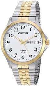 Citizen Men's ' Quartz Stainless Steel Casual Watch, Color:Two Tone (Model: BF5004-93A)