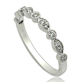 14K White Gold 0.20 carat Diamond Wedding Band