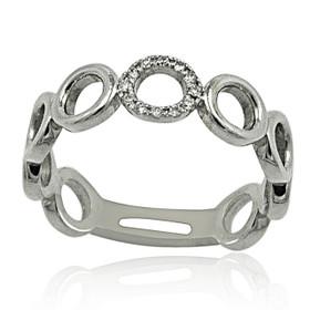 14K White Gold Diamond Circles Ring