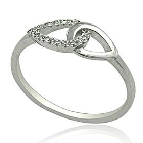 14K White Gold Diamond Designer Ring