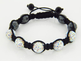 Shamballa Bracelet with Swarovski Iridescent Crystals