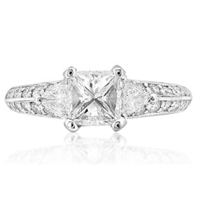 Platinum 1.02 ct  Diamond Engagement Ring