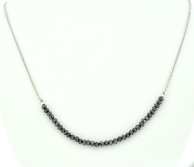 22200091 14K White Gold Diamond Necklace