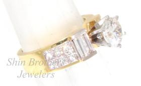 18K Yellow Gold 1.25 ct Diamond Engagement Ring Setting
