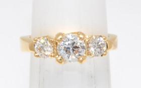14K Yellow Gold 0.71 ct Diamond Engagement Ring