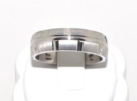 80000156 Silver Fancy Wedding Band