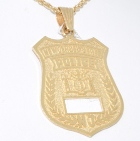 50001194 14K Yellow Gold New Jersey State Police Badge Charm