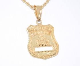 50000089 14K Yellow Gold New Jersey Police Badge Charm
