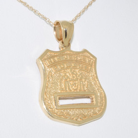 50000287 14K Yellow Gold New Jersey Police Badge Charm