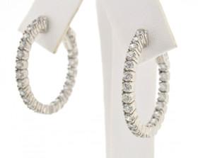 80000482 Silver Fancy Hoop Earrings