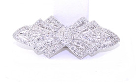 72010020 14K White Gold Diamond Brooch