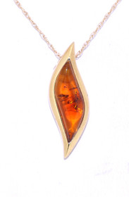 14K Yellow Gold Fancy  Amber Slide Necklace By Shin Brothers Jewelers Inc 52001098