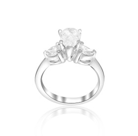 Platinum 1.29ct Diamond Engagement Ring