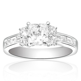 18K White Gold 1ct Diamond Engagement Ring