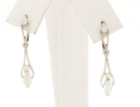 14K White Gold Marquise Diamond Lever Back Dangle Earrings 41060287