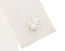 One Piece Single 14K White Gold Round Diamond Stud 41060262