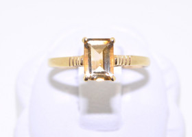 12000257 14K Yellow Gold Citrine Ring
