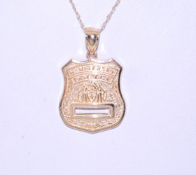 50002151 14K Yellow Gold NJ Police Charm