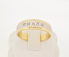 14K Two Tone Gold Diamond Wedding Band 11001454