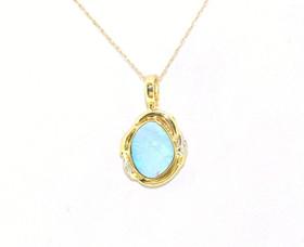 14K Yellow Gold Diamond Opal Charm 52001158