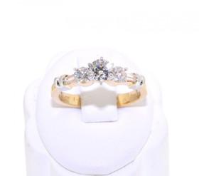 14K Yellow Gold 1.0ct Diamond Engagement Ring