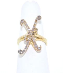 "11003224 14K Yellow Gold Diamond ""K"" Initial Ring"