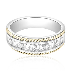 14K Two Tone Diamond Wedding Band 11001619