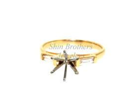 14K Yellow Gold 0.22 ct  Diamond Engagement Ring Setting