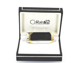67000052 Colibri Stainless Octagonal Design Two-Tone Money Clip