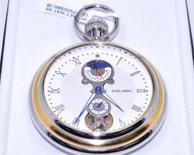 61011826 Colibri Two Tone Pocket Watch Face with Stand