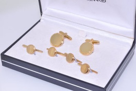 72010034 Men's Colibri Gold Plated Cufflinks/Button Sets