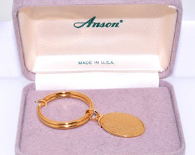 89910029 Anson Gold Plated Diamond Key Ring
