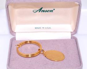 89910029 Anson Gold Plated Diamond Key Ring