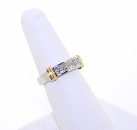 14K Two Tone Gold Diamond Wedding Band 11003428