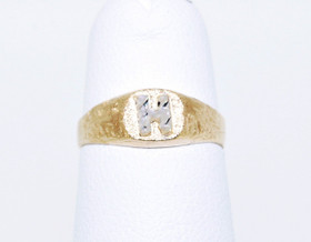 "14K Two Tone Gold Initial ""H"" Ring 10016325"