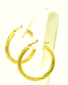 14K Yellow Gold Twist Hoop Earrings 40001469-E