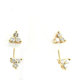 14K Yellow Gold Diamond Earrings 41000705 By Shin Brothers Jewelers Inc