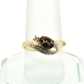 12002059 14K Yellow Gold Tourmaline/Diamond Ring