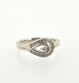 81010191 Sterling Silver Diamond Ring