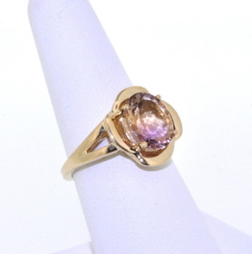 12002089 14K Yellow Gold Bicolor Tourmaline Ring