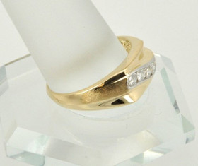 14K Yellow Gold Mens .38ct Diamond Ring 11001631