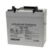 UB-22NF - 12 Volts 55Ah - Terminal Z1 - Gel Battery | Battery Specialist Canada
