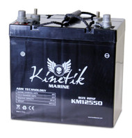 KM12550 - 12V 55Ah - SLA Battery With Marine / Post Terminal | Battery Specialist Canada