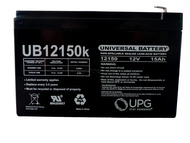 12V 15AH F2 Ademco/Adi PWPS12120 Replacement Battery Side| Battery Specialist Canada